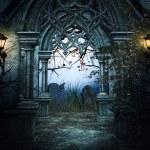 Dark Graveyard Background...