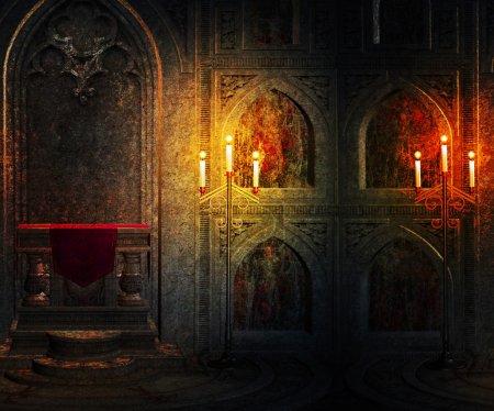 Gothic Palace Interior Background
