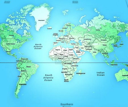 Photo for World Map - Royalty Free Image