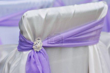decoration chair purple bow brooch