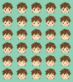 Expression of the boy