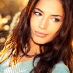 Beautiful young woman portarit, close up outdoor...
