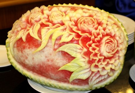 Watermelon carving art