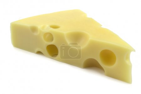 Photo for Emmental cheese isolated on white background. - Royalty Free Image