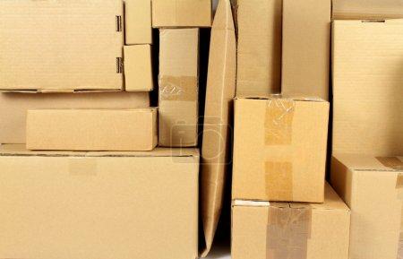 Stacked carton boxes
