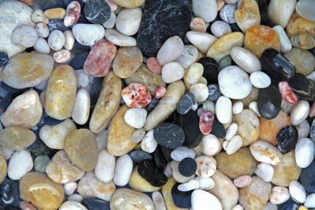 Photo pour Pierres de galets en eau cristalline - image libre de droit