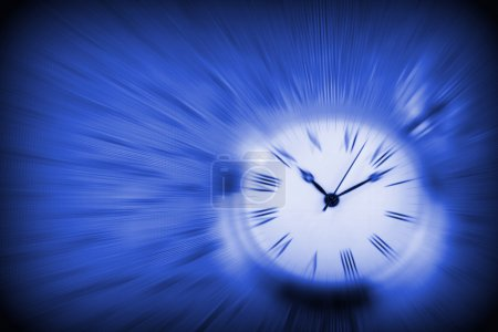 Photo for Clock, blue background - Royalty Free Image