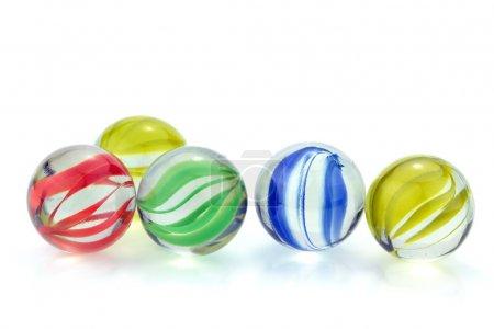 billes de verre coloré
