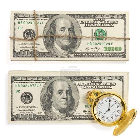 dollars money banknotes white