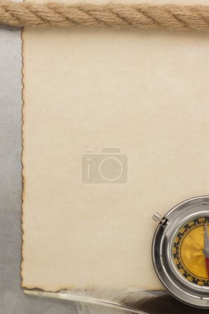 parchment and compass