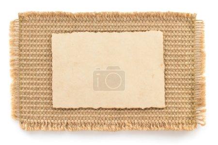 burlap hessian sacking and paper