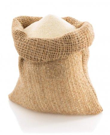 Semolina in bag