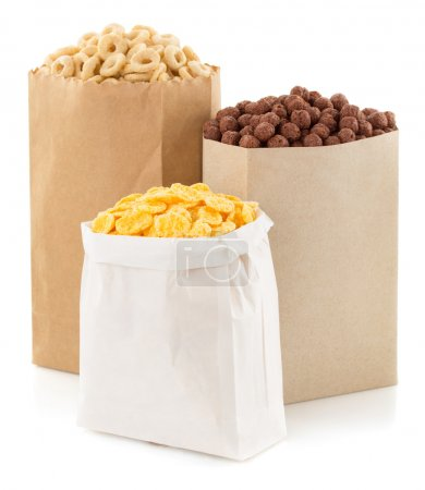 cereal corn mix in paper bag