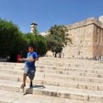HEBRON, ISRAEL - SEP 08:Israeli child visit at the...
