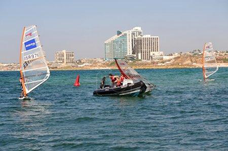 HERZLIYA,ISR- OCT 06:Israeli youth learn to wind s...