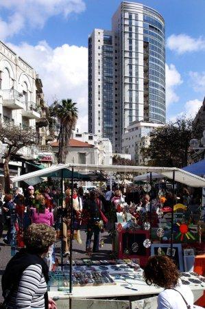 Nachalat Binyamin Market in Tel Aviv