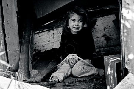 Human Trafficking of Children - Concept Photo