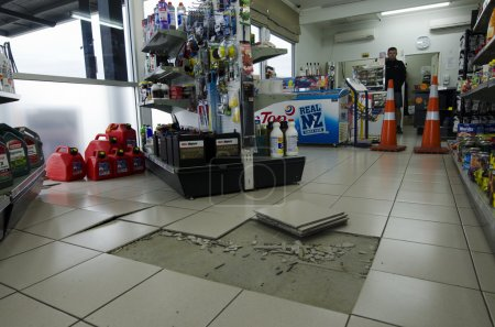 Damage from the strong earthquake