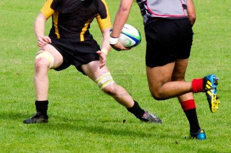 Photo pour Kaitaia, nz - 03 août: peuple joue au rugby sur 03 août 2013.rugby union est le sport national officieux de nz. l'équipe nationale, les all blacks, considérés comme la meilleure équipe internationale dans le monde. - image libre de droit