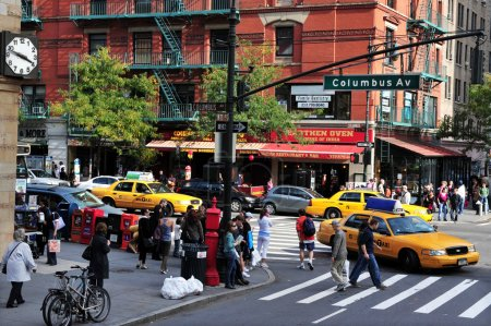 Columbus Avenue in Manhattan New York City