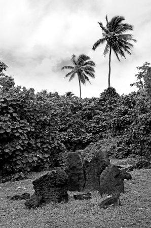 Paengariki marae in Aitutaki Lagoon Cook Islands