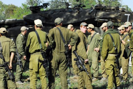 Israeli Soldiers Prepared for Ground Incursion in Gaza Strip