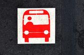 Autobus platformu znak a symbol