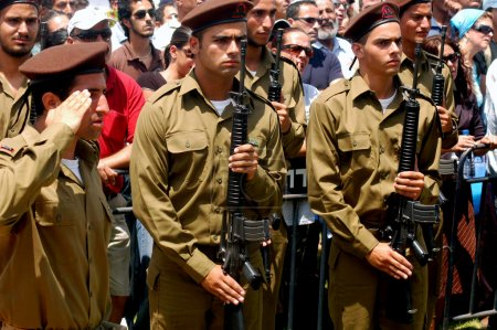 Israeli soldiers with riffles