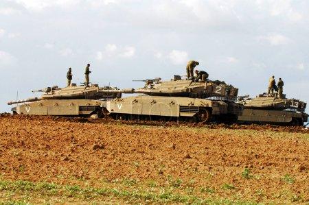 Israeli tank near Gaza strip