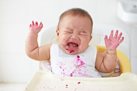 Baby angry and crying
