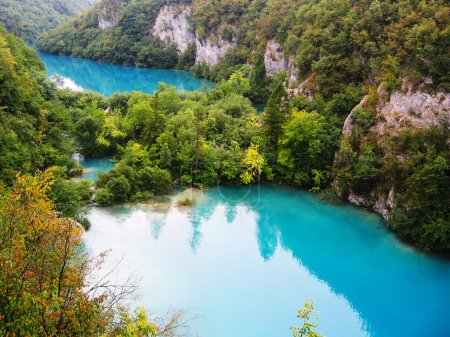 The beautiful lakes cascade in Plitvice National Park, Croatia