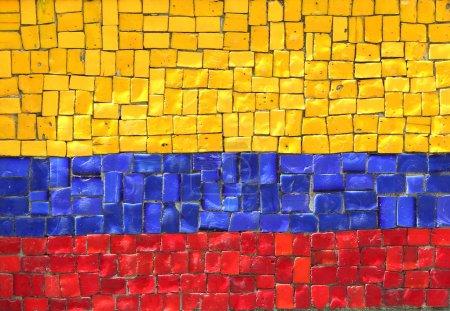 Photo pour Drapeau colombien en mosaïque - image libre de droit