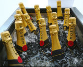 Moet a chandon šampaňské prezentovaných na Národní tenisové centrum nás otevřít 2013