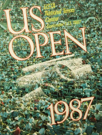 US Open 1987 poster on display at the Billie Jean King National Tennis Center