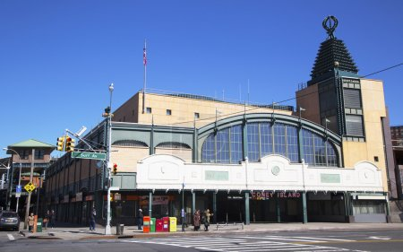 Stillwell Avenue subway station in Coney Island Section of Brooklyn