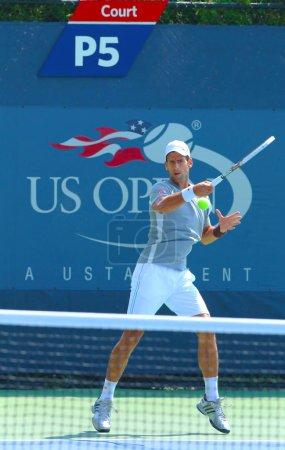 Professional tennis player Novak Djokovic