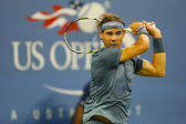 Twelve times Grand Slam champion Rafael Nadal during second round match at US Open 2013