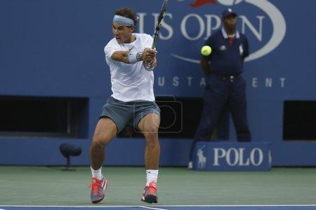 Twelve times Grand Slam champion Rafael Nadal during semifinal match at US Open 2013 against Richard Gasquet