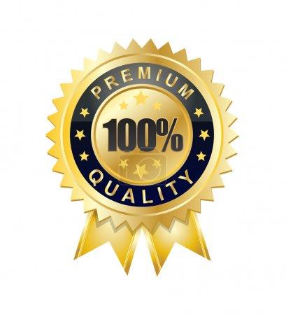 Illustration for Golden quality sign or symbol - Royalty Free Image