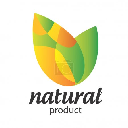 Illustration for Organic Food, Eco product logo. - Royalty Free Image
