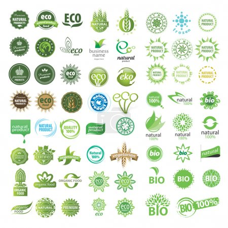 Set of eco friendly, natural and organic labels....