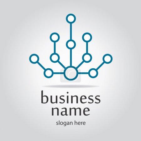 Illustration for High tech logo - Royalty Free Image