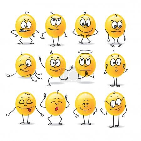 Illustration for Funny images stillizovannye emotions - Royalty Free Image