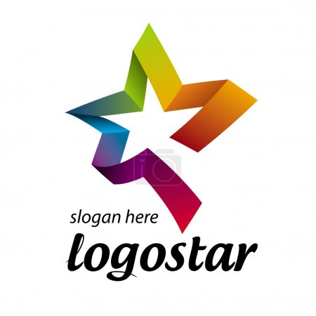 star logo of colored ribbons