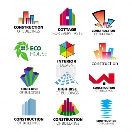 Photo for Collection of vector logos construction and home improvement - Royalty Free Image
