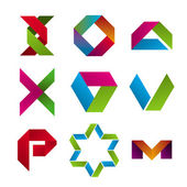 Kolekce abstraktní ikon pásky