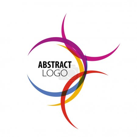 Illustration for Abstract logo of colored circles - Royalty Free Image