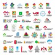 Collection of vector logos construction and home i...