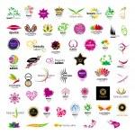 Collection of vector logos for cosmetics beauty sa...