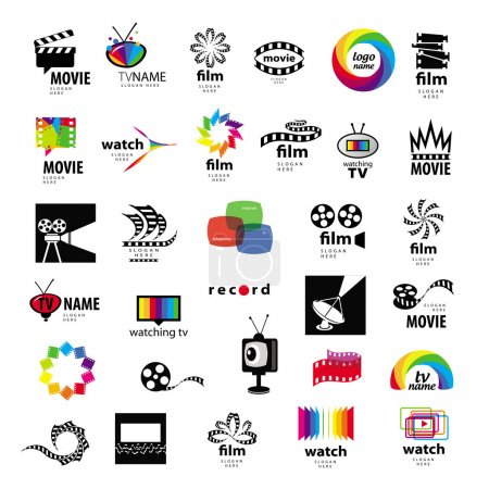 Photo for Collection of logos tv, video, photo, film - Royalty Free Image